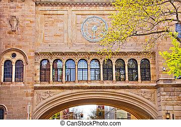Stone Arch Yale University Art Building - Victorian Stone...