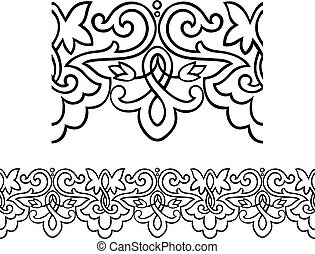 Victorian style outlined border - Stylized repeatable...