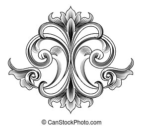 Vector Decoration - Engraving