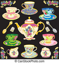 Fancy Victorian style tea service