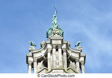 Victorian town hall tower top