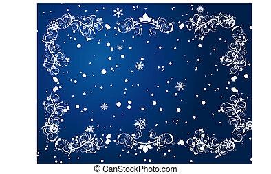winter frame background