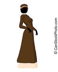 Victorian Woman Illustration Silhouette - Victorian woman...