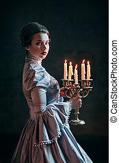 victorian woman, ruha