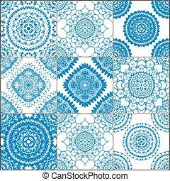 victoriano, azulejo, en, vector