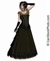 victoriano, ropa