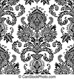victorien, vecteur, pattern., seamless