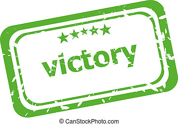 victory grunge rubber stamp isolated on white background