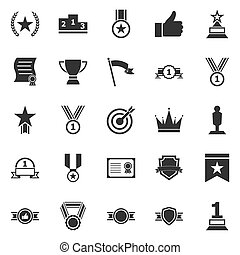 Victory icons on white background