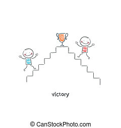 Victory. Illustration.