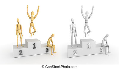 Victory Podium - The Winner Takes It All - winner guy...