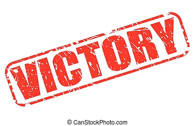 Victory red stamp text