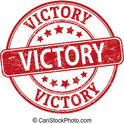victory round textured rubber stamp
