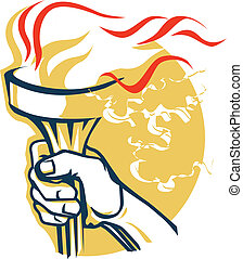 Victory Torch - Torch held high in victory