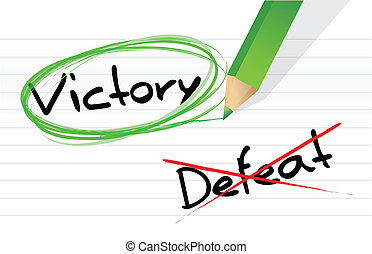 victory versus defeat selection illustration design on a...