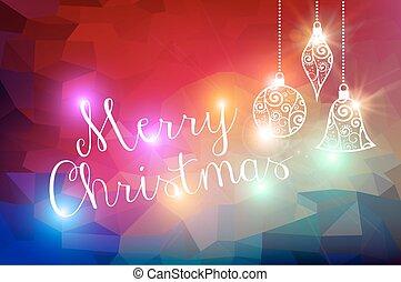 vidám, állati tüdő, bokeh, karácsony, háttér