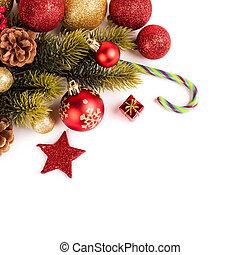 vidám, év, új, karácsonyi üdvözlőlap, boldog