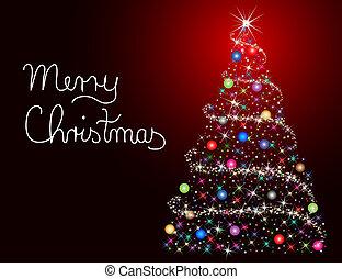 vidám christmas, kártya
