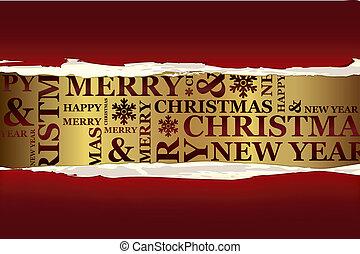 vidám christmas, köszönés kártya