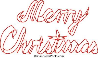 vidám christmas, szalag