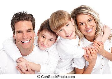 vidám család