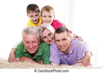 vidám család, közül, öt