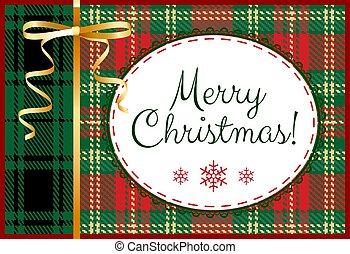 vidám, kártya, karácsony