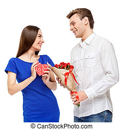 vidám párosít, képben látható, valentines nap