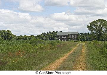 vidéki táj, otthon