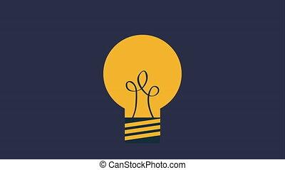 vidéo, animation, idée, grand, icône