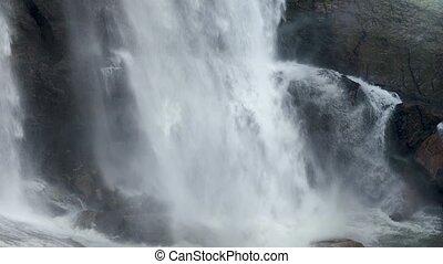 vidéo, beau, rupture, rochers, 4k, chute eau, islande, ...