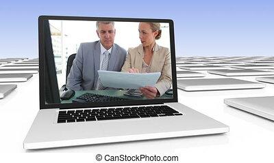 vidéo, business, digitalement, créé