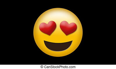 vidéo, emoji, numérique, engendré, amour