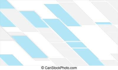 vidéo, géométrique, bleu, gris, tuiles, animation, résumé