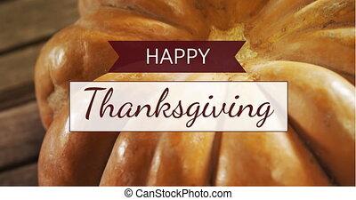 vidéo, heureux, thanksgiving, 4k, engendré, digitalement