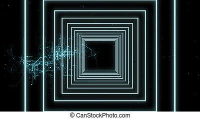 vidéo, lignes, concentrique, numérique, engendré