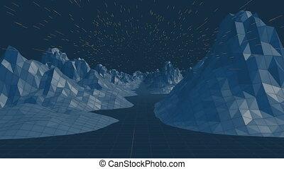 vidéo, montagne, généré digitalement