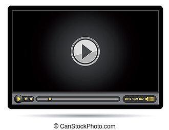 vidéo, noir, joueur