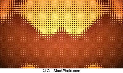 vidéo, points, orange