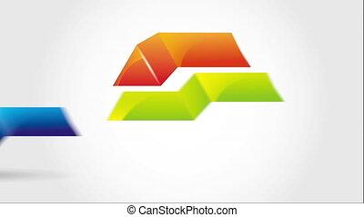 vidéo, pyramide, animation, icône, conception