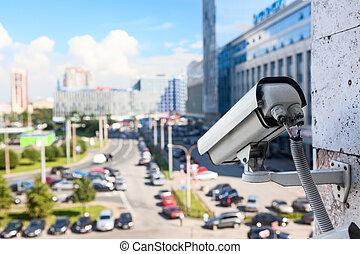 vidéo, rues, contrôler, cameras, surveillance