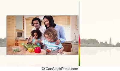 vidéos, cuisine, familles