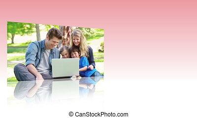 vidéos, de, familles, utilisation, les, interne