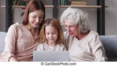 vidéos, générations, rire, rigolote, famille, trois, ...