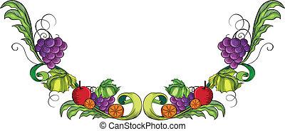 vid, borde de fruta