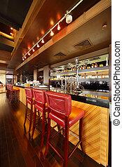 vid, hookahs, hinder, stol, disk, komfortabel, omfång, restaurant;, drickande, tom