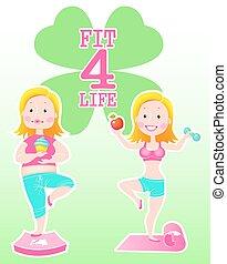 vida, 4, ajustar