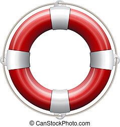vida, buoy., rojo