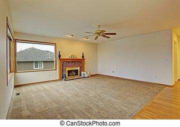 vida, carpet., sin amueblar, habitación, cpzy