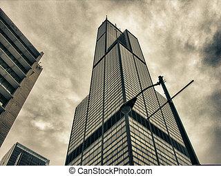 vida cidade, eua, chicago